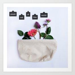 flowers in a bag Art Print