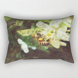 Honey Bee: Emerald Rectangular Pillow