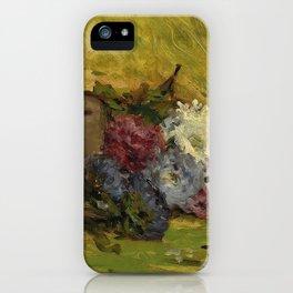 """Paul Gauguin """"Reine-marguerites, chapeau et livre"""" iPhone Case"""