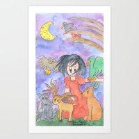 Overwhelmed Snow White Art Print