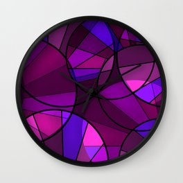 Colorful purple and blue pattern . Wall Clock