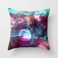 night sky Throw Pillows featuring Night Sky by Marlidesigns