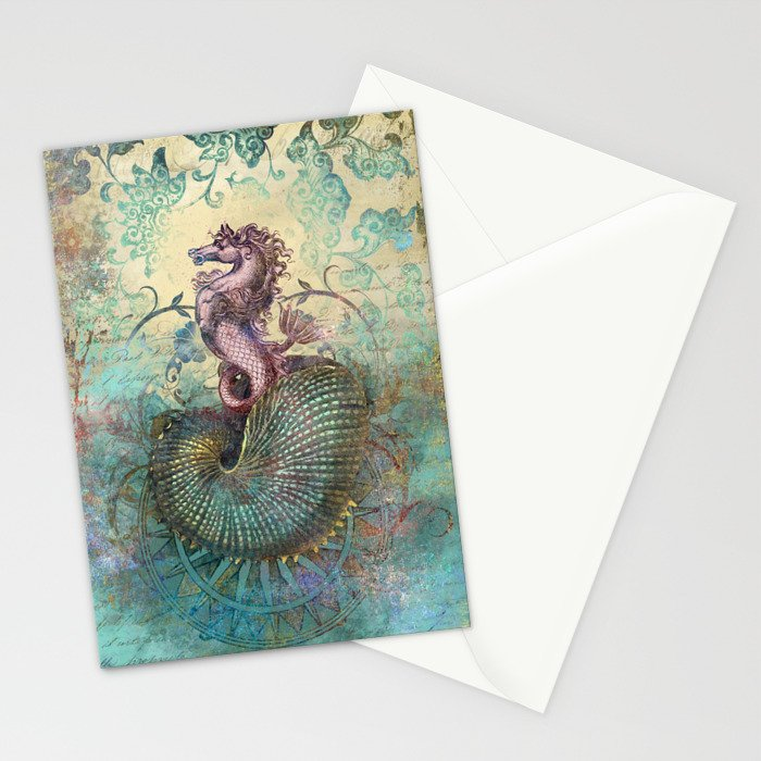 The Seahorse Diary Stationery Cards