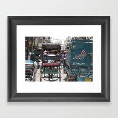 Busy Delhi Streets Framed Art Print