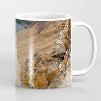 hiking Mugs featuring Mountain hiking by Mariana's ART