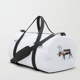 Love follows the reindeers Duffle Bag