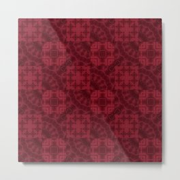 Red patchwork Metal Print
