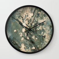 snow Wall Clocks featuring Snow  by Peter Coleman