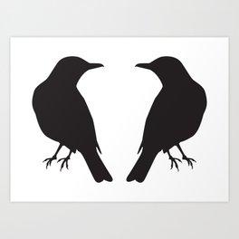 looking at a blackbird Art Print