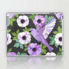 Purple Paper Anemone Collage Laptop & iPad Skin