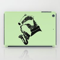 badger iPad Cases featuring Badger Saxophone by mailboxdisco