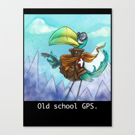 Old school GPS. Canvas Print