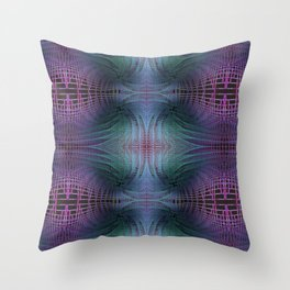 Rendering of Theoretical Spacetime and Multiverse Abstract Throw Pillow