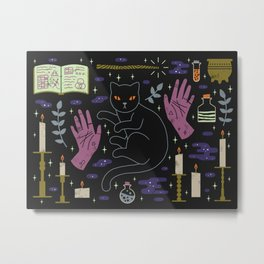 Spooky Horoscopes: Leo Metal Print