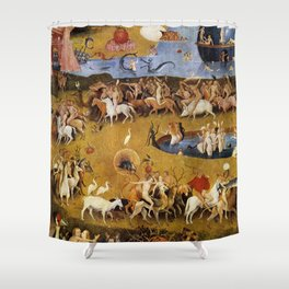An insight into Heaven - Hieronymus Bosch Shower Curtain