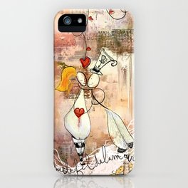 The thread of love iPhone Case