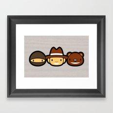 Ninja Cowboy Bear Framed Art Print
