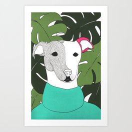 Mr.T and monstera Art Print