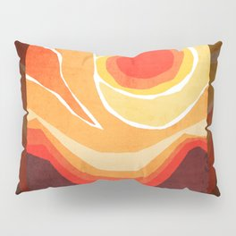 Modern Mid-Century Desert Sunset Pillow Sham