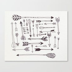 Arrows - B + W Canvas Print