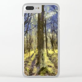 Peaceful Forest Van Gogh Clear iPhone Case