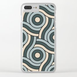 Night Watch, Alpaca Wool and Blue Willow Circle Swirl Pattern Clear iPhone Case