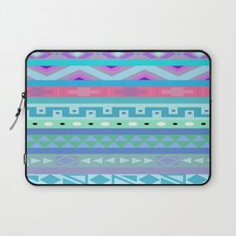 Calm Colored Tribal Print Laptop Sleeve