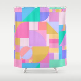 Colourful Bauhaus Shower Curtain