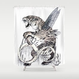 Wheat Tiger Chimera Shower Curtain