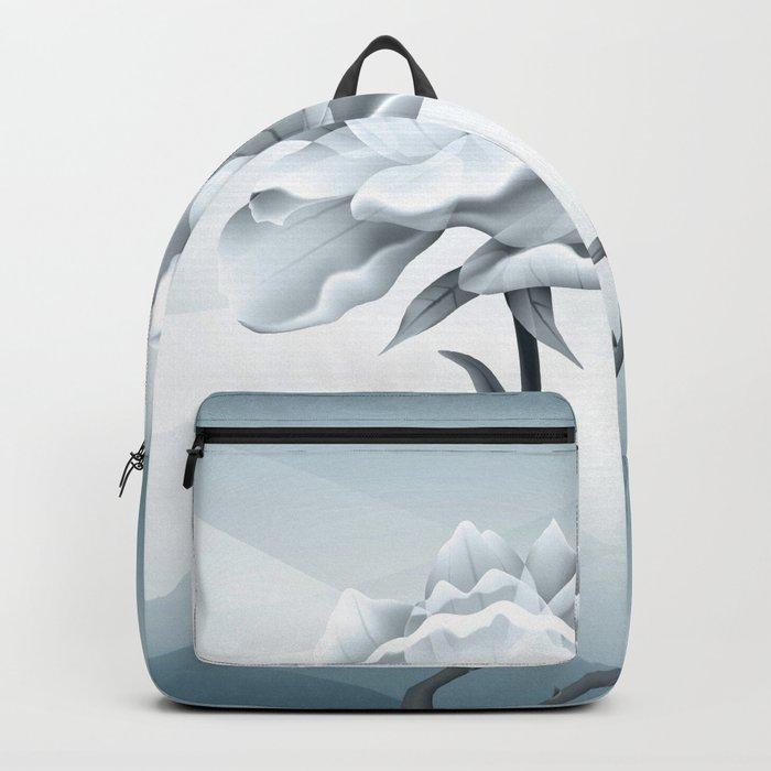 White Rose In Lovely Light Backpack