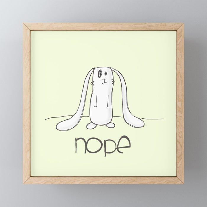 Nope Framed Mini Art Print