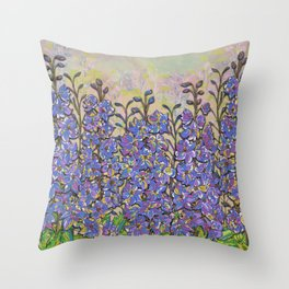 Darling Delphiniums Throw Pillow