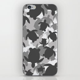 Turtle Camouflage Black and White iPhone Skin