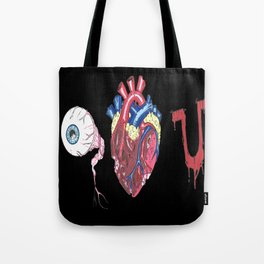 Eye Bloody Love you Tote Bag