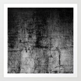 Silver Textured Concrete Pattern Art Print