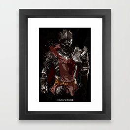 Red Knight Splatter Framed Art Print