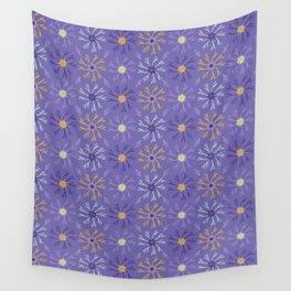 Flower Bloom Petals Vector Pattern Wall Tapestry