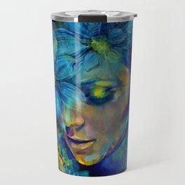 OLD NEW BORROWED BLUE Travel Mug