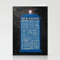 doctor Stationery Cards featuring Doctor Who  by Luke Eckstein