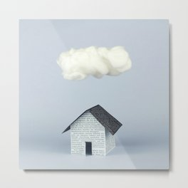 A cloud over the house Metal Print