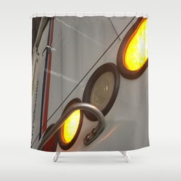 Lights On. Fashion Textures Shower Curtain
