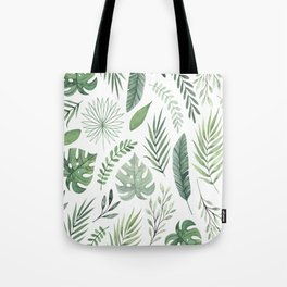 Watercolor leaves Tote Bag