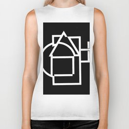 Astract house negative Biker Tank
