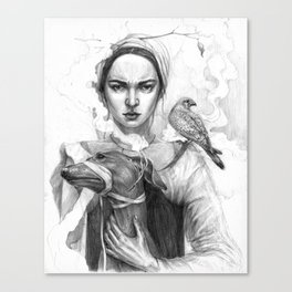 strict lady Canvas Print