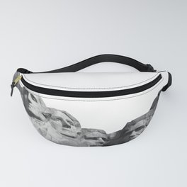 Mount Rushmore National Memorial South Dakota Presidents Faces Graphic Design Illustration Fanny Pack