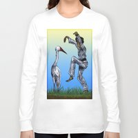 crane Long Sleeve T-shirts featuring Crane Kick vs. Crane by Shmelanna