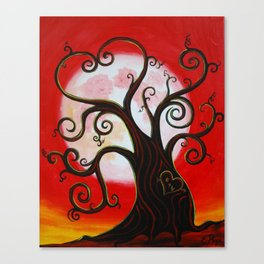 Funky Tree in Love Canvas Print