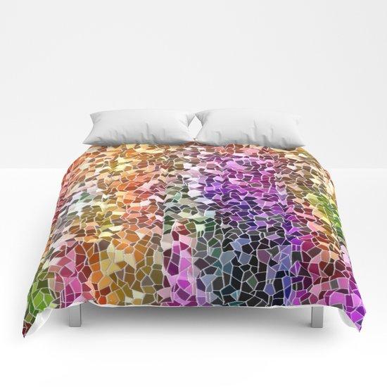 Rainbow Mosaic Comforters