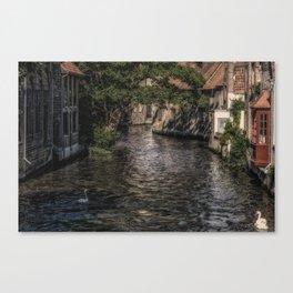 Wet Backdoor Canvas Print