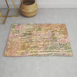 Vintage pattern collage Rug